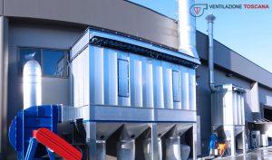 impianto aspirazione filtro a maniche